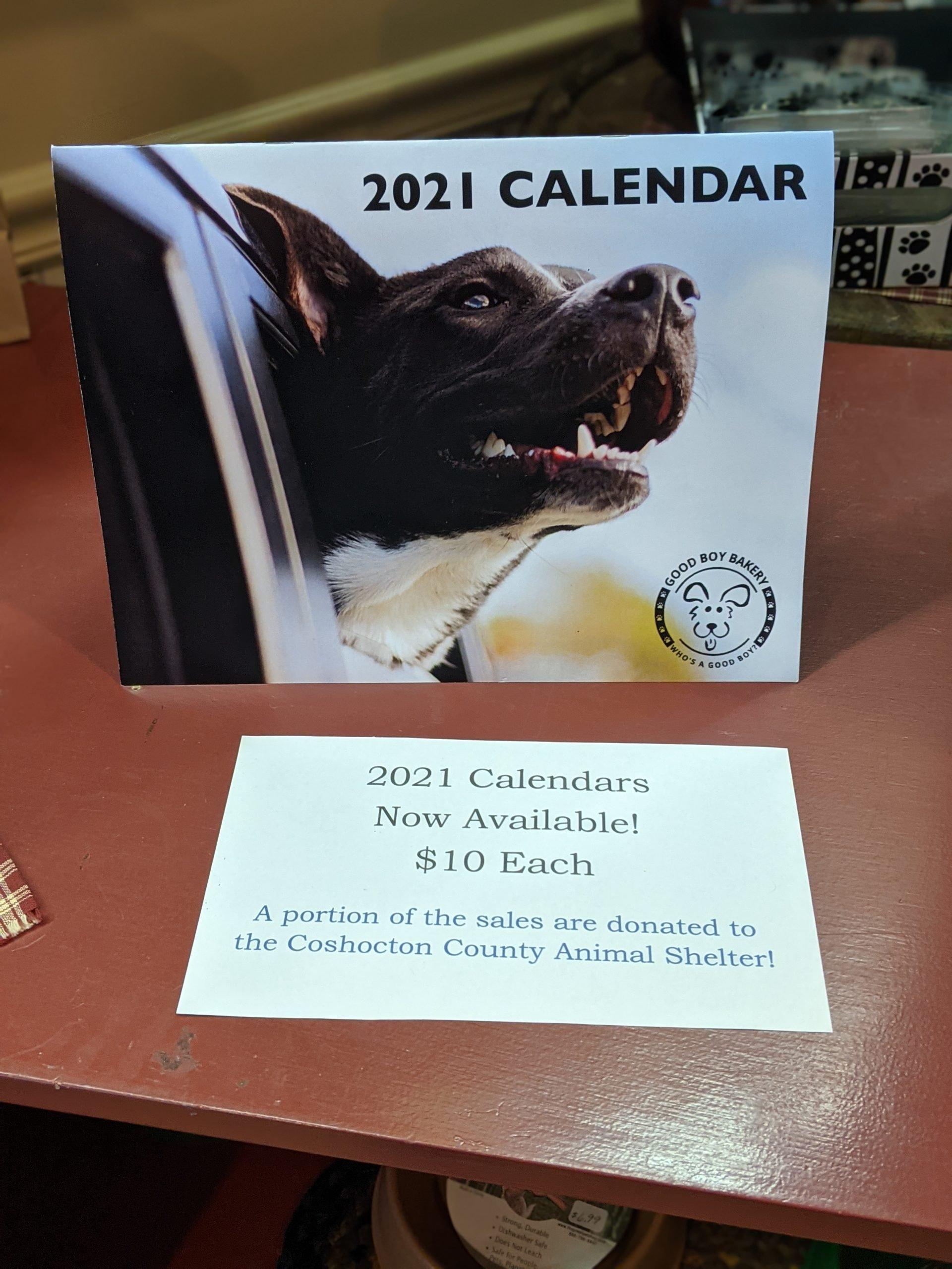 Good Boy Bakery Calendar