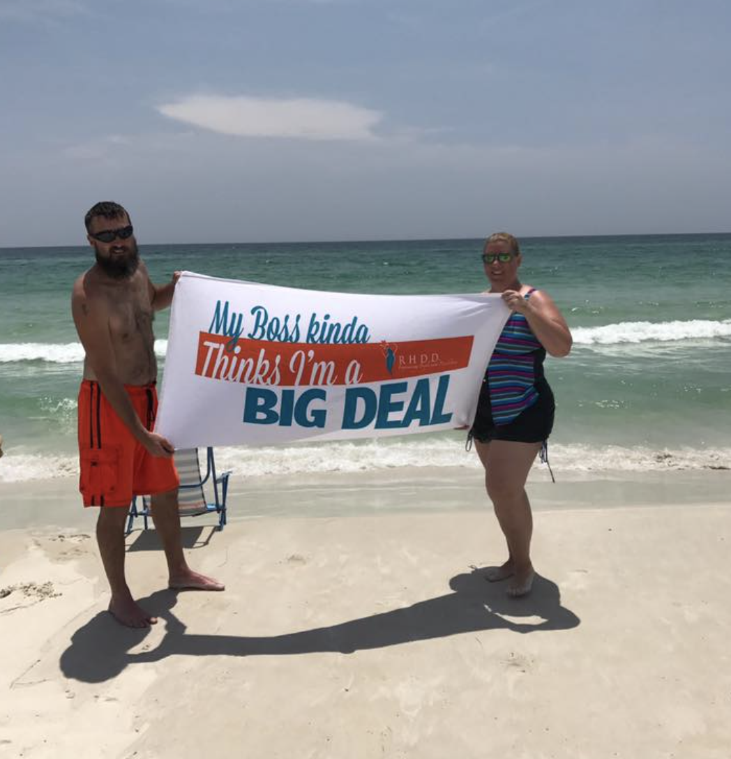 the worst thing that can happen with a branded beach towel